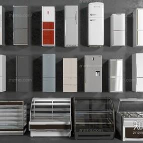 单开冰箱组合3D模型【ID:127852249】