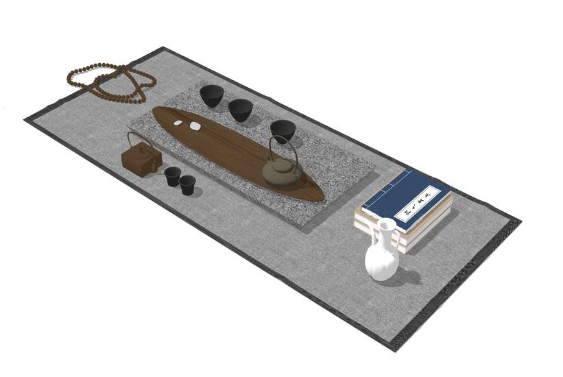 茶具SU模型【ID:936625402】
