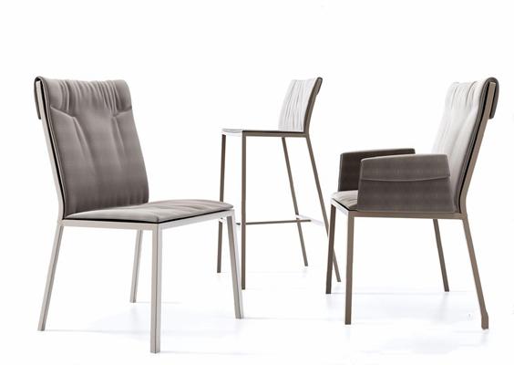 北欧单椅吧椅3D模型【ID:327936152】