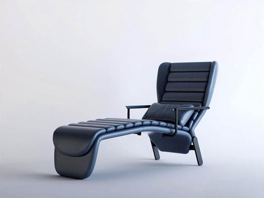 木美现代躺椅3D模型【ID:227886632】