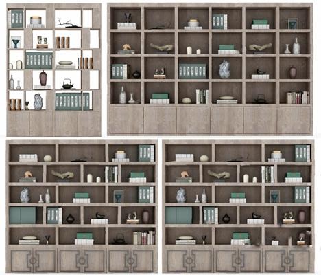中式书柜3D模型