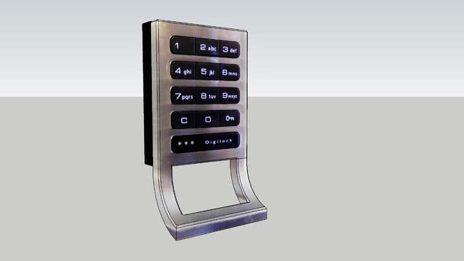 数字锁扣硬件-标准体拉SU模型【ID:940082258】