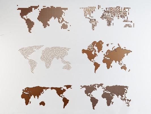 世界地圖墻飾3D模型【ID:127853109】