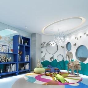 现代牙科医院儿童娱乐区3D模型【ID:928564660】
