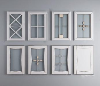 现代橱柜柜门玻璃门板组合 现代门 橱柜门 玻璃柜门 门板 玻璃门板 夹丝玻璃门板
