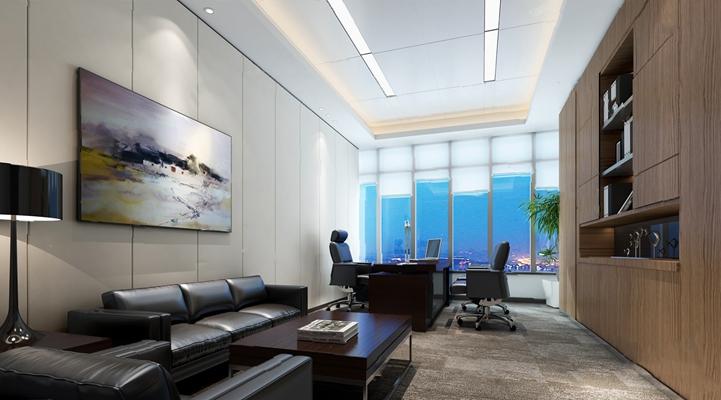 现代办公室3D模型【ID:920614551】