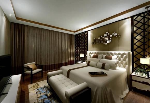 中式卧室3D模型【ID:419625343】