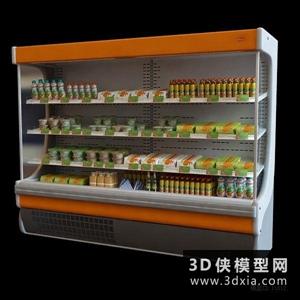 超市货架国外3D模型【ID:229846399】