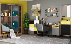 北歐書桌椅裝飾柜擺件組合3D模型【ID:127754914】