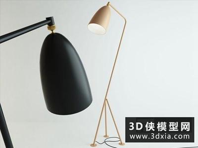 现代落地灯国外3D模型【ID:929521088】