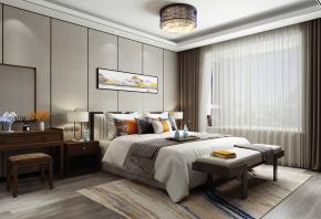 新中式卧室3D模型【ID:927818556】