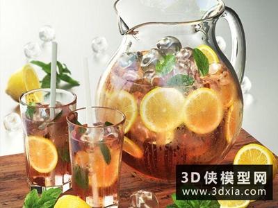 檸檬薄荷茶國外3D模型【ID:929474572】