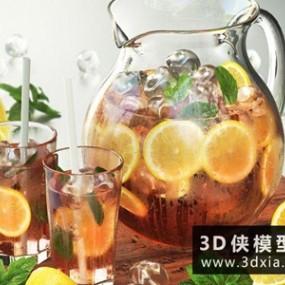柠檬薄荷茶国外3D模型【ID:929474572】