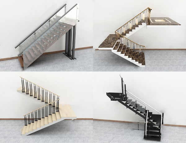 現代轉角樓梯3D模型【ID:346262540】