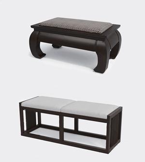 中式凳子3D模型【ID:734271669】