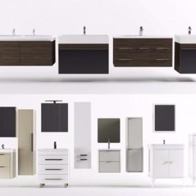 现代浴室柜组合3D模型【ID:928558463】