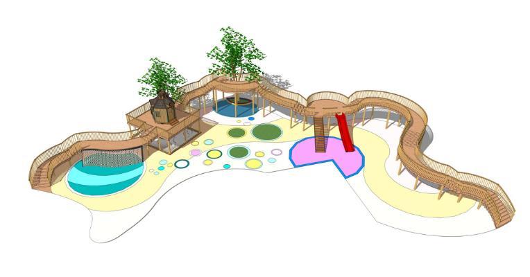 儿童娱乐设施SU模型【ID:945468672】