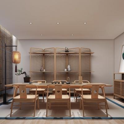 新中式茶室包厢3D模型【ID:427795178】
