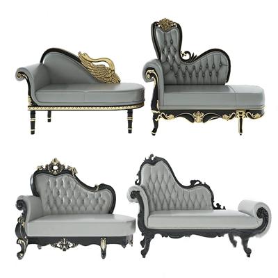 歐式古典貴妃椅3D模型【ID:634037933】