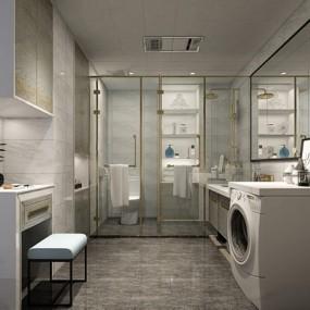 北欧洗手间3D模型【ID:528024437】