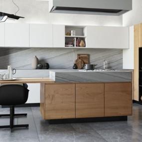 现代厨房3D模型【ID:528282070】