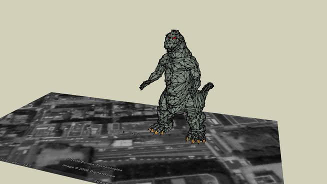 哥斯拉在东京SU模型【ID:740096544】