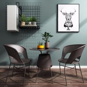 现代藤椅3D模型【ID:227884472】