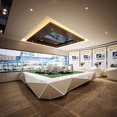 售楼处地产展厅3D模型【ID:428026561】