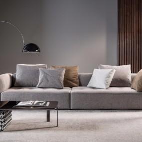意大利MINOTTI品牌现代布艺双人沙发组合3D模型【ID:928559733】