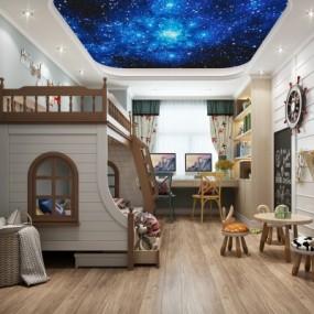 地中海风格儿童房3D模型【ID:128399220】