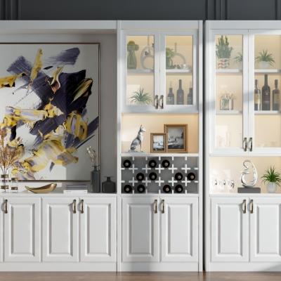 现代酒柜组合3D模型【ID:928559021】