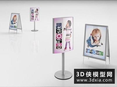 广告标识国外3D模型【ID:229820306】