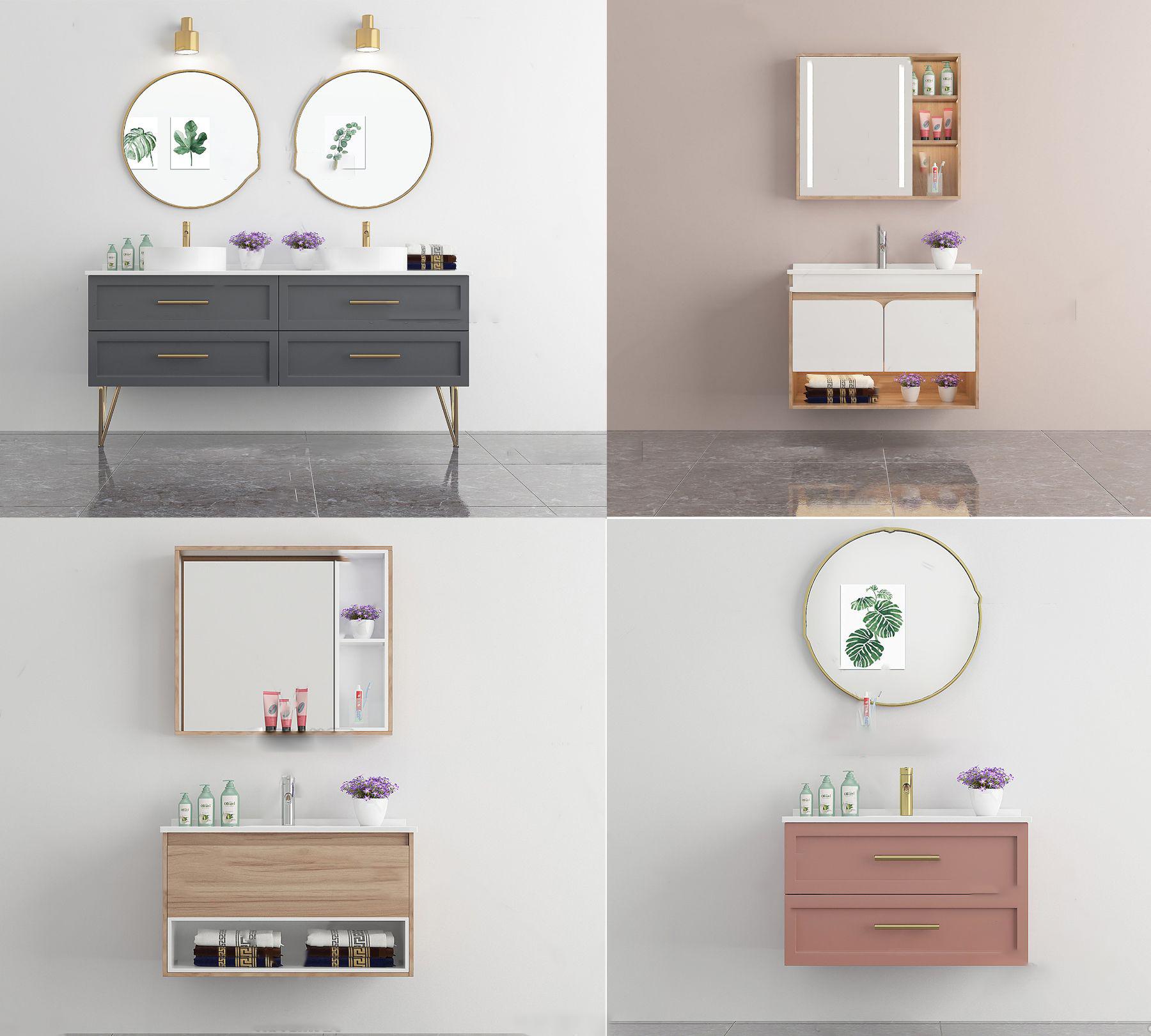 北欧浴室柜洗手台3D模型【ID:243274485】