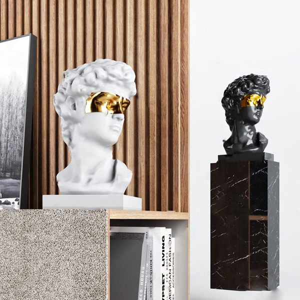 現代輕奢人像雕塑擺件3D模型【ID:346258109】