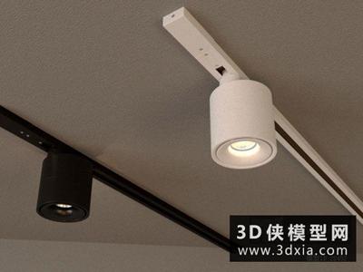 軌道射燈國外3D模型【ID:929421121】
