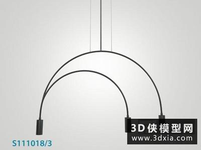现代吊灯国外3D模型【ID:829494784】