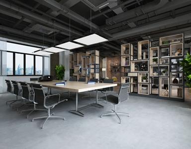 工业风办公室3D模型【ID:932413174】