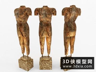 人物雕塑国外3D模型【ID:929756775】