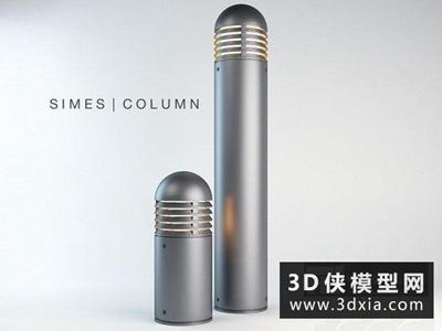 園林地燈國外3D模型【ID:929500274】