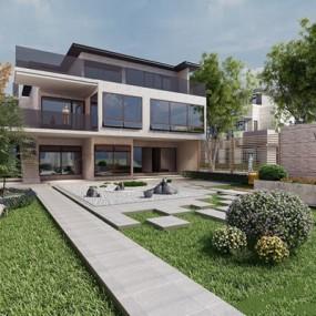 别墅建筑3D模型【ID:528022494】