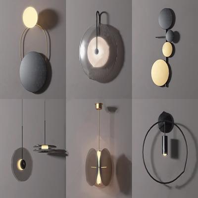 现代壁灯组合3D模型【ID:734112959】