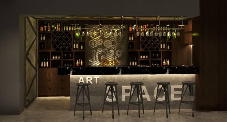 工业风酒吧3D模型【ID:424894419】