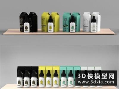 超市货架国外3D模型【ID:229492344】