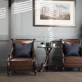 美式单人沙发3D模型【ID:928188617】