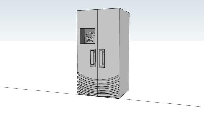 不锈钢冰箱SU模型【ID:838572333】