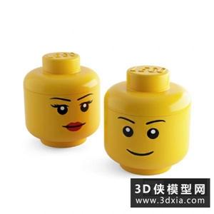 装饰罐国外3D模型【ID:129769996】