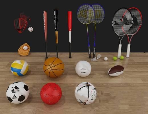 体育用品3D模型【ID:920603502】
