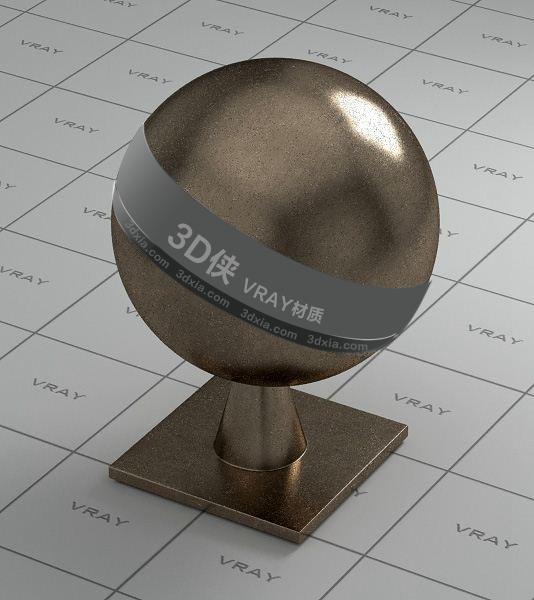 深棕色金属Vray材质【ID:736483694】