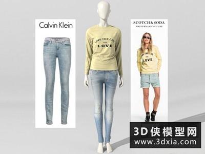 模特国外3D模型【ID:229549355】