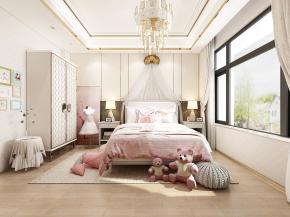 现代卧室儿童房3D模型【ID:127752214】
